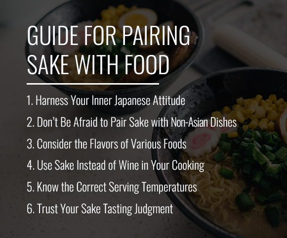 guide for pairing sake with food