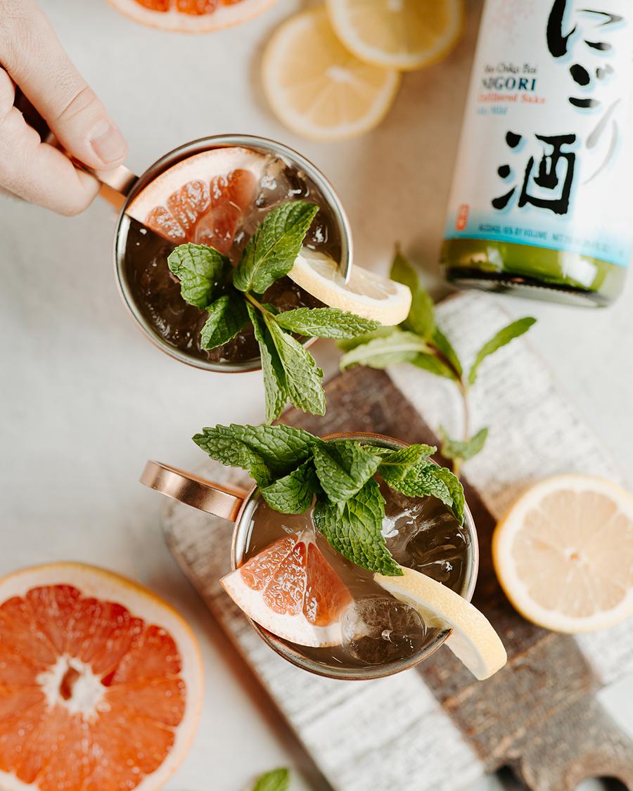 Nigori Sake Mule